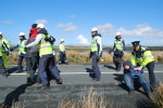 Gardaí and IRMS work together to stop protesters