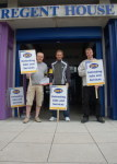Picket of HMRC Valuation Office Agency Staff at Regent House (PCS)