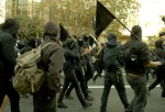 Black Bloc at Occupy Oakland, November 2, 2011. From bluecinema.