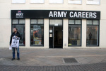 Catholic Worker Vigil outside Army recruitment centre in Watford 1
