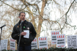 Peter Tatchell speaking at a previous event for Bradley Manning at US Embassy