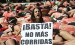 A highly effective anti bullfighting demo in Mexico