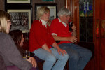 The family relaxes in the Brian Boru pub at a social event Saturday night