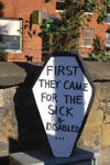 Protest at Wrexham Jobcentre, home of ATOS work capability assessments