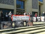 Demonstration outside Winchester Crown Court