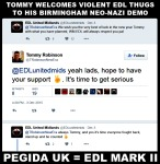 Tommy Welcomes EDLers Into Pegida