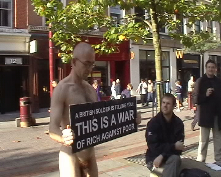 Photos of James Thorne's Naked Protest