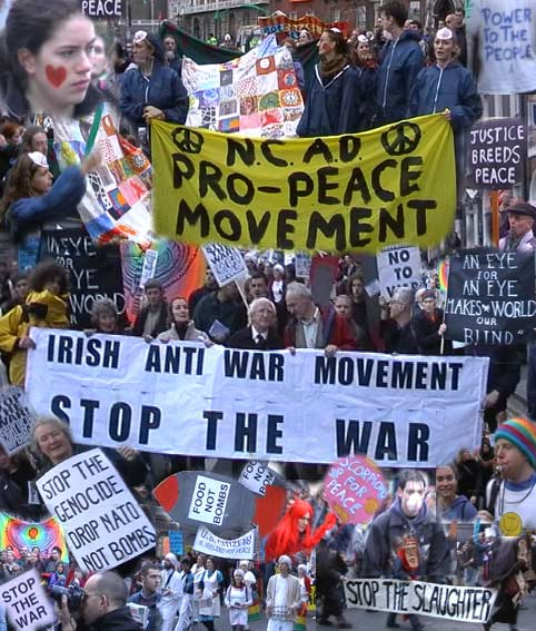 peace movement If everybody demanded peace instead of another television set, then there'd be peace.