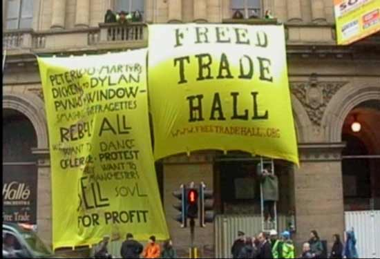MANCHESTER PEOPLE FREE THE FREE TRADE HALL