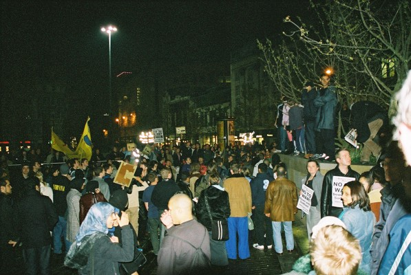 More pics - Manchester Anti war protests 31st Oct
