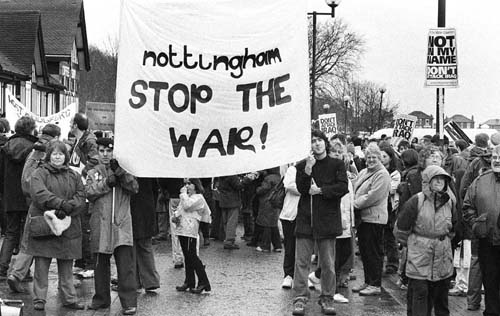 London and Nottingham 'Stop the War': Photography