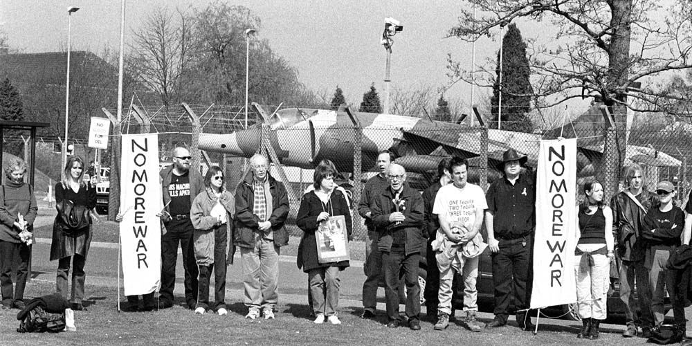 Reclaim the Bases :: 'Stop the War protest RAF Stafford :: RAF Cottesmore