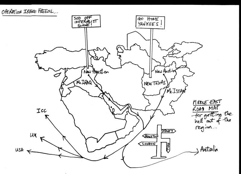 Middle East Road Map Cartoon resized UK Indymedia