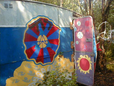 Caravan in Faslane Peace Camp