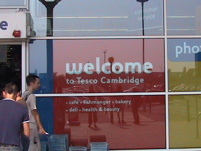 The pilot project is run at Tesco in Cambridge