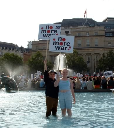 In The Water at Trafalgar Square