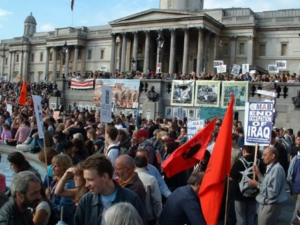 Part of the crowd at Trafalgar Square