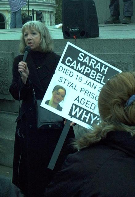 Pauline Campbell, mother of Sarah Campbell who died in prison in Cheshire