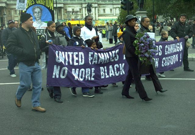 The march sets off towards Downing Street