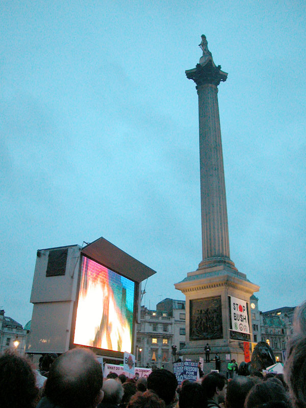 Speaches in Trafalgar Square