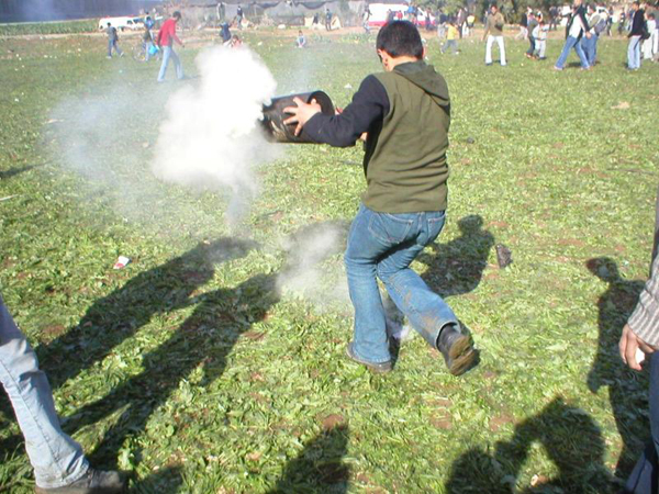 Teargas canister