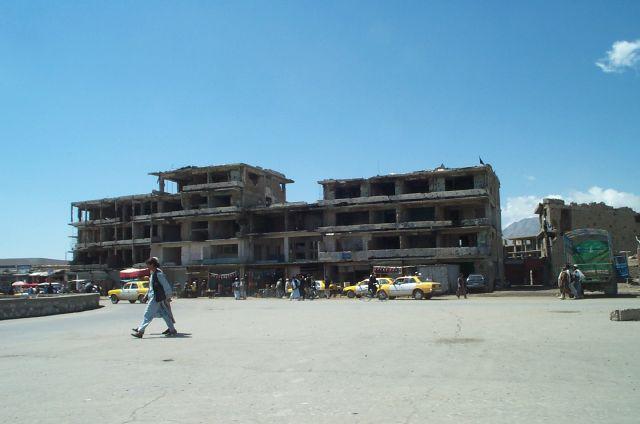 Kabul - bomb damage