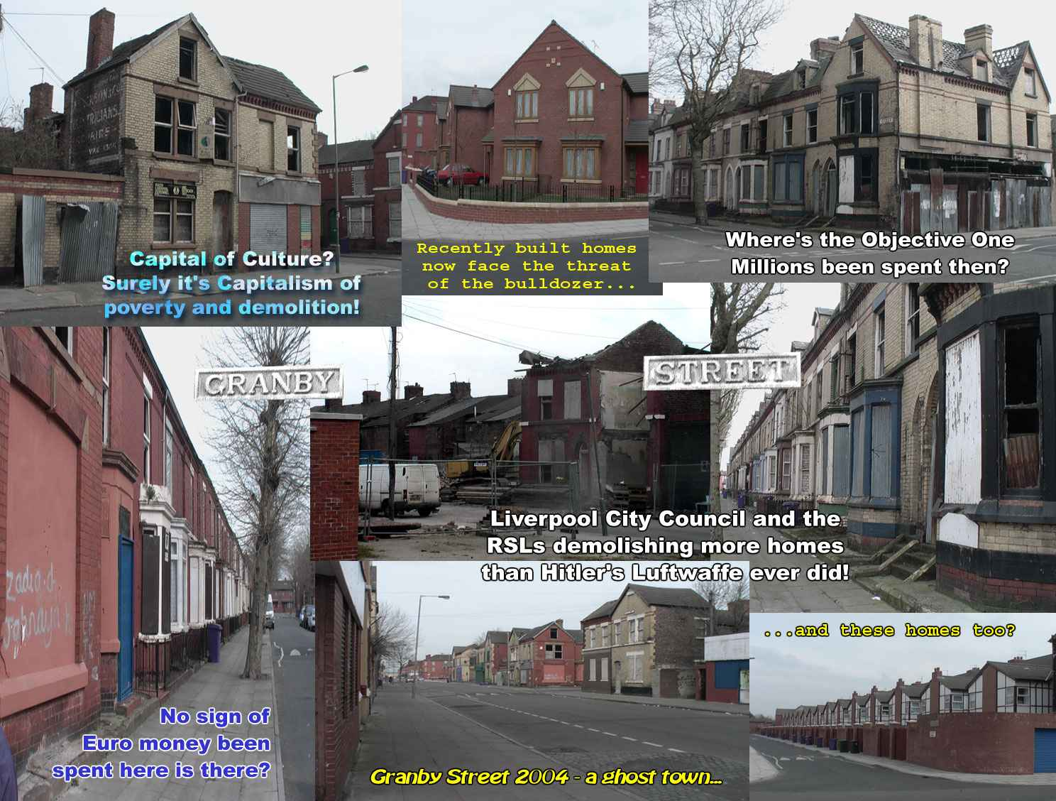 Picture post card from Liverpool to tourists of the world - This is the reality!
