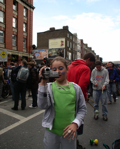 kids keen to play with video camera and camcorder - indymedia juniors :-)
