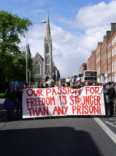 solidarity with prisoners demonstration on Monday 3rd of May