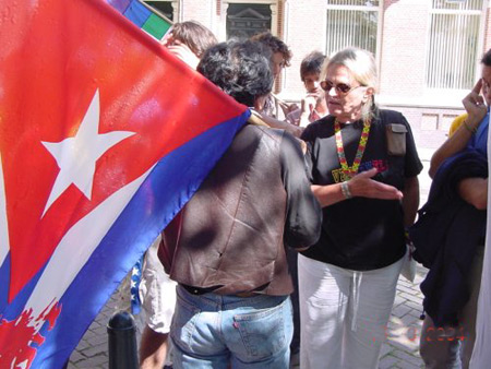 Opposition shocked with the Cuban flag