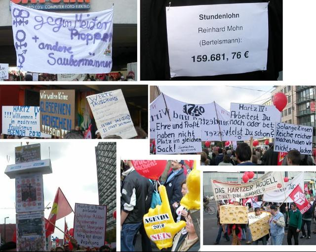 creative unorganised citizens march in Berlin with self made placards