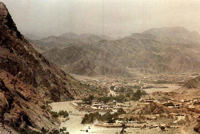 View from the Khyber Pass into Afghanistan.
