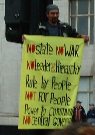 No state, No war, No leader & hierachy