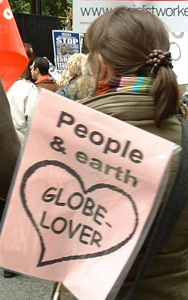 People & earth - globe lover