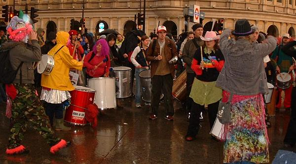 Even the rain can't stop a samba party