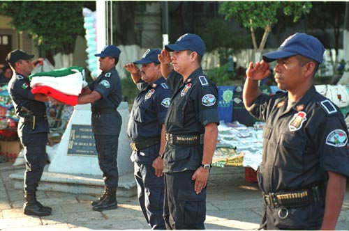 The Oaxaca Police. Not well known for their progressive stance.