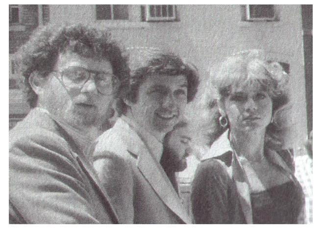 From the 1980's, Danny Schechter with Tom Hayden and Jane Fonda.