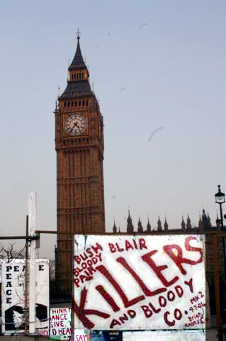 ...AND BIG BEN WITH SOME POSTERS
