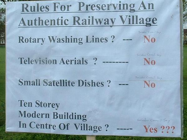Rules for preserving an authentic railway village