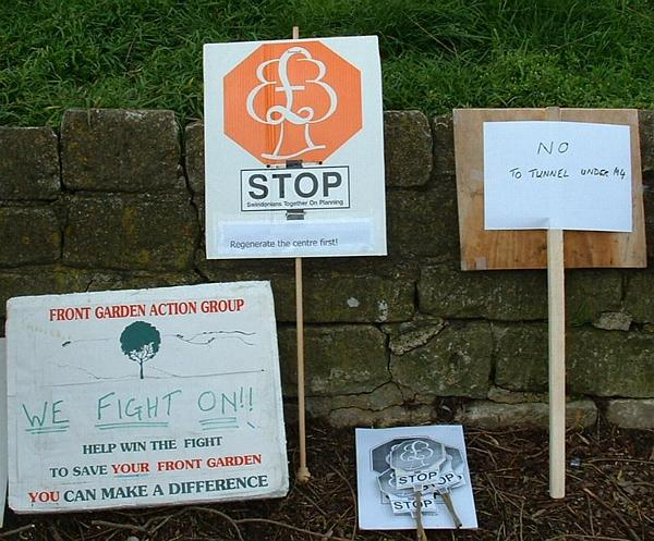 Assorted placards