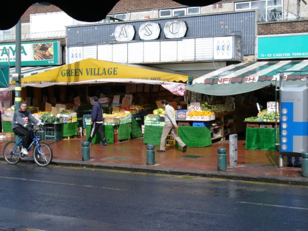 fruit and vegetable shop at Upton Park