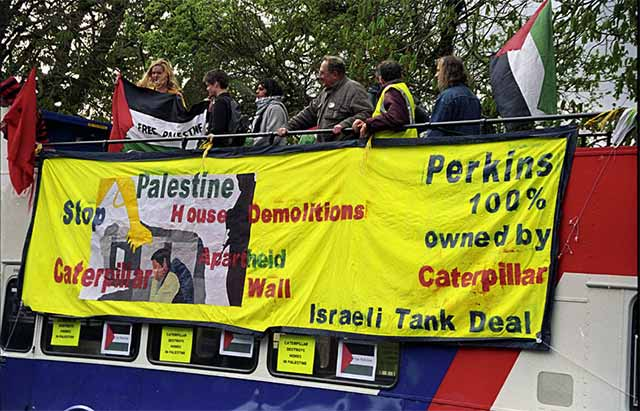 Caterpillar/Perkins also make tanks for the Israeli Occupying Forces