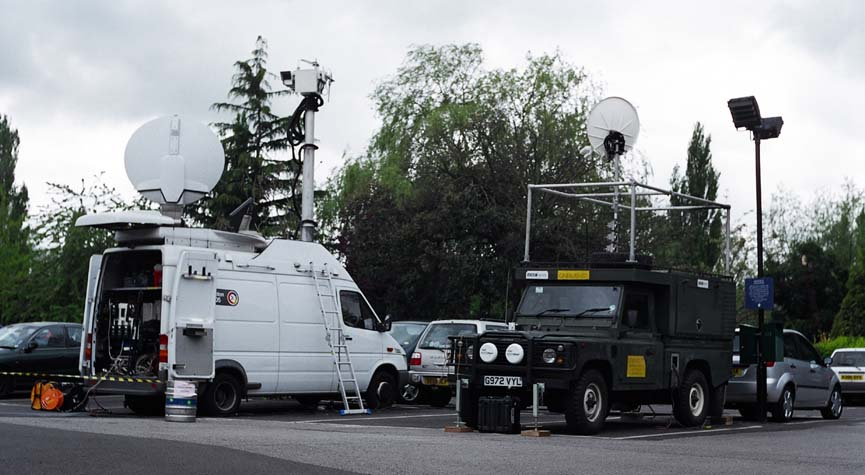 And now the science bit, in the form of the OB vans.