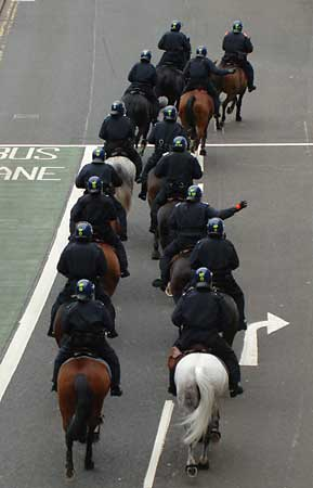 Mounted police...