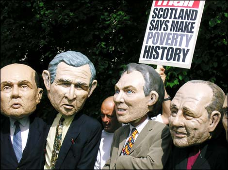 Masks of the G8 leaders
