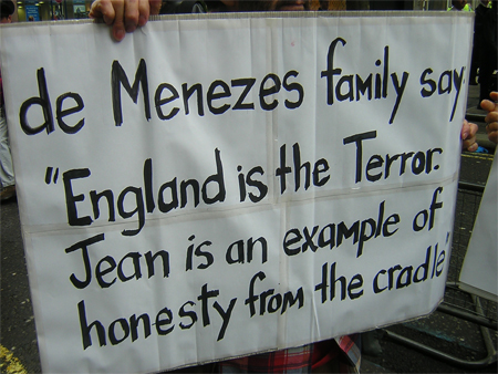 A message from de Menezes family ...