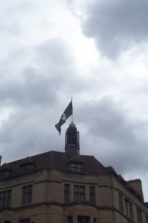 flag of a peace dove in Carfax