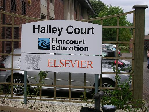 Harcourt Education, sounds innocent enough but is owned by Death Dealing Elsevie