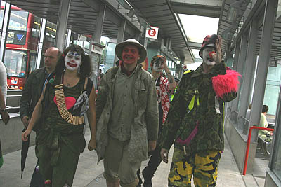 clown army in cannin town