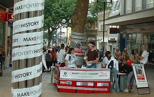 There was a Make Poverty History stall